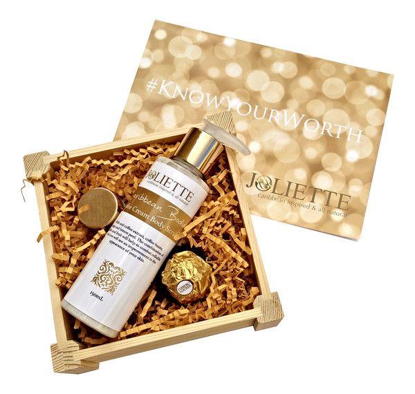 Joliette Small Gift Set: Coffee Cream Body Scrub £20