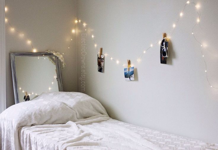 Bedroom Fairy Lights Hanging Indoor String Lights Dorm Decor 19 ft Battery operated (16.99 CAD) by ElectricCrowns