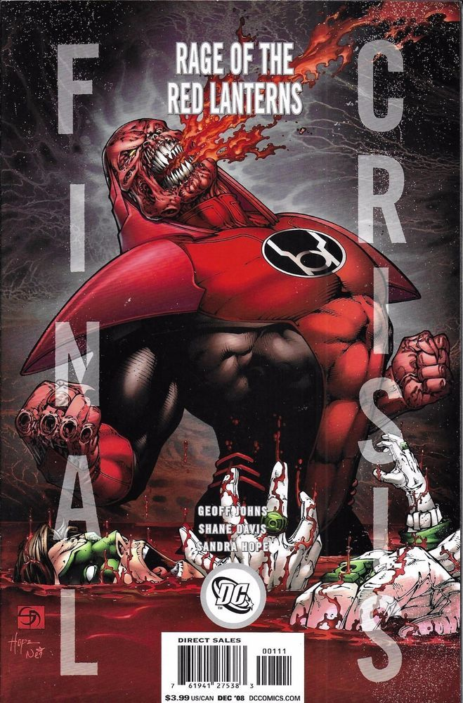 DC Final Crisis Rage of the Red Lanterns comic issue 1