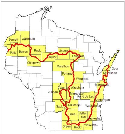 Wisconsin's Ice Age Trail is a 1,000 mile footpath (entirely in Wisconsin) that highlights the landscapes created in the state by retreating glaciers. These landscapes are among the world's finest examples of how glaciers have shaped our planet.