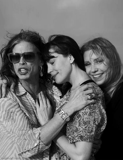Liv Tyler & her parents (bebe buell and steven tyler)