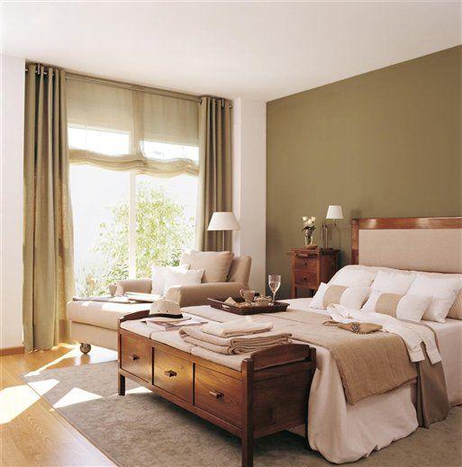 pintar la parede celeste o gris | Con muebles oscuros, lo mejor es mezclar telas lisas en tonos crudos o ...