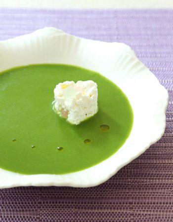 クリーミーでほっこりあたたかい。「ポタージュスープ」のレシピ集 ... ニラだってこんなにおしゃれなスープに♪「ニラのポタージュ」