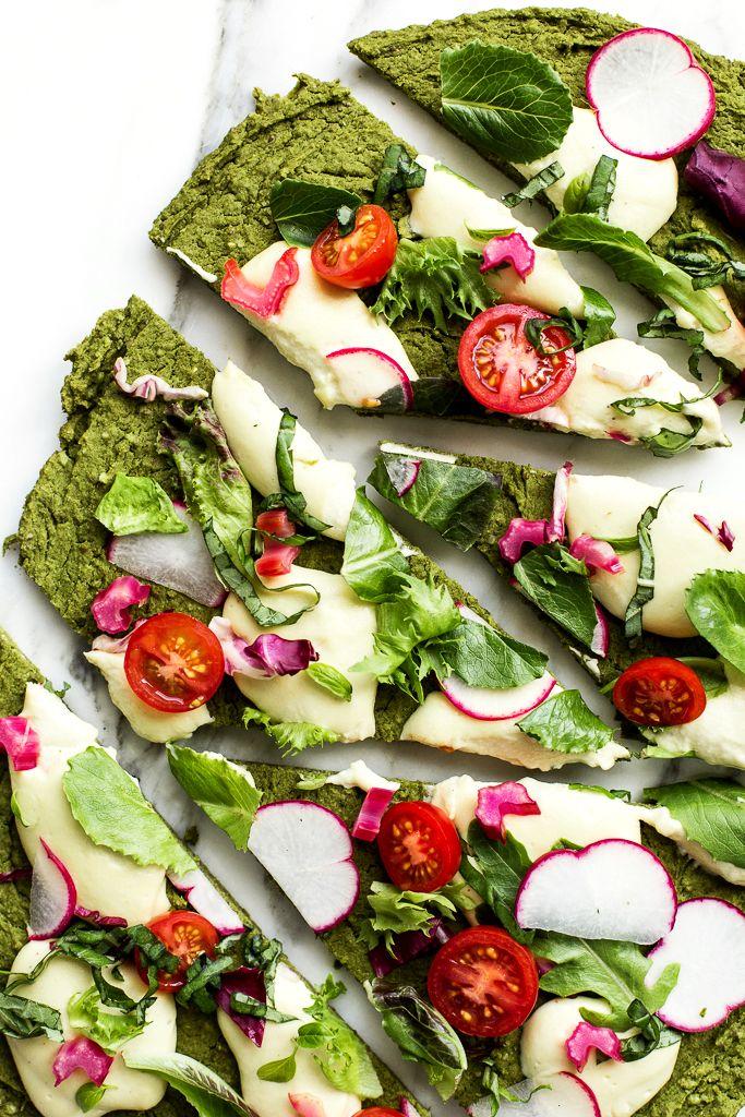 Green Split Pea + Spinach Pizza Crust | Vegan + Gluten-Free
