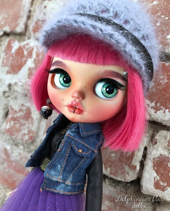 Meet Sopfia Custom Blythe Doll With Handmade Dress Etsy