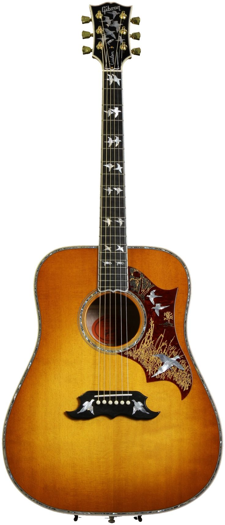 Gibson Acoustic Doves in Flight Custom (Quilt Maple, ) | Sweetwater.com...Want it.
