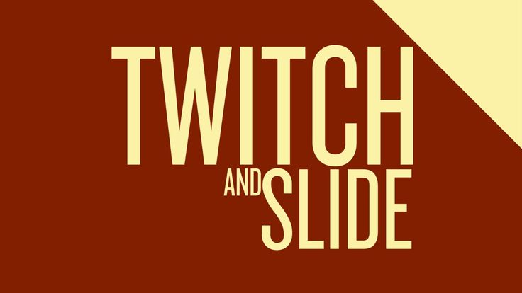 Click to tweet? -- http://clicktotweet.com/4ekWh The twitch and slide movement is for bringing in new elements and making rapic changes less jarring. Perfect...