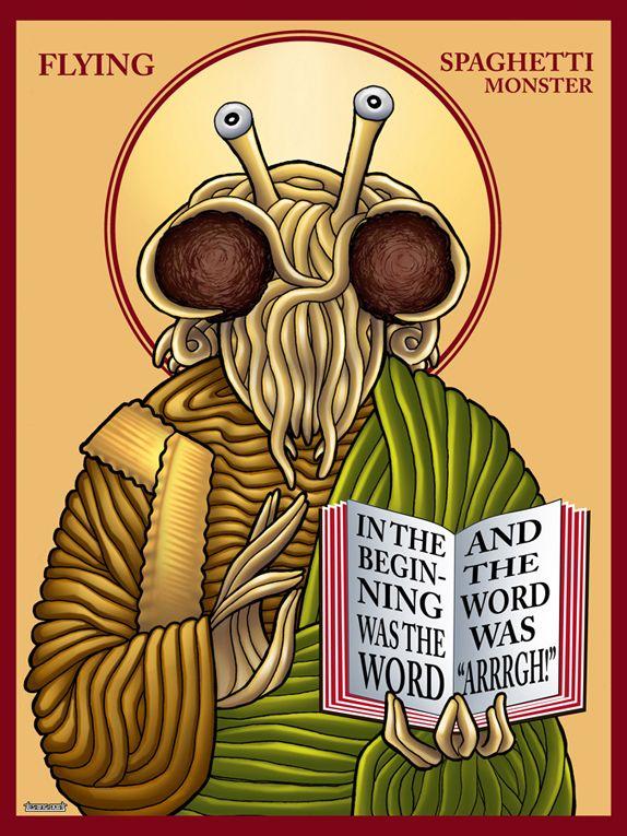 Flying Spaghetti Monster #Pastafarianism #FSM