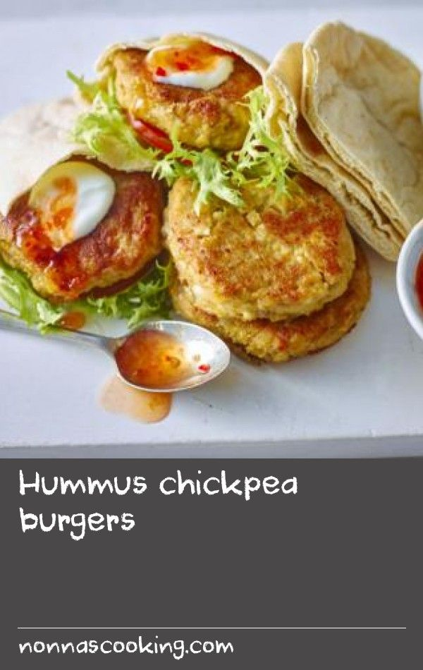 Hummus chickpea burgers |      These tasty vegetarian burgers are easy to make and brilliant for a healthy family dinner. The burgers are freezer friendly so perfect for making ahead. Equipment and preparation: for this recipe you will need a food processor. Each burger provides 423 kcal, 14g protein, 64g carbohydrate (of which 6g sugars), 13g fat (of which 1.5g saturates), 5g fibre and 2.1g salt.