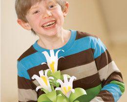 Handprint Lilies...great Easter gift idea