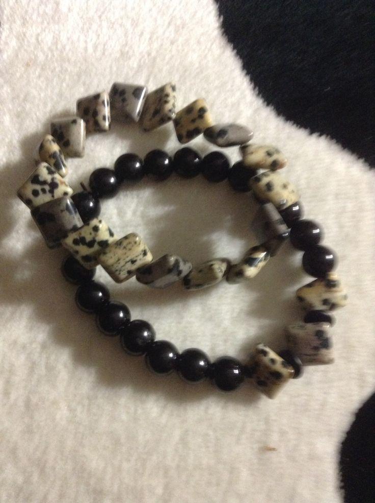 Dalmation gemstone bracelet