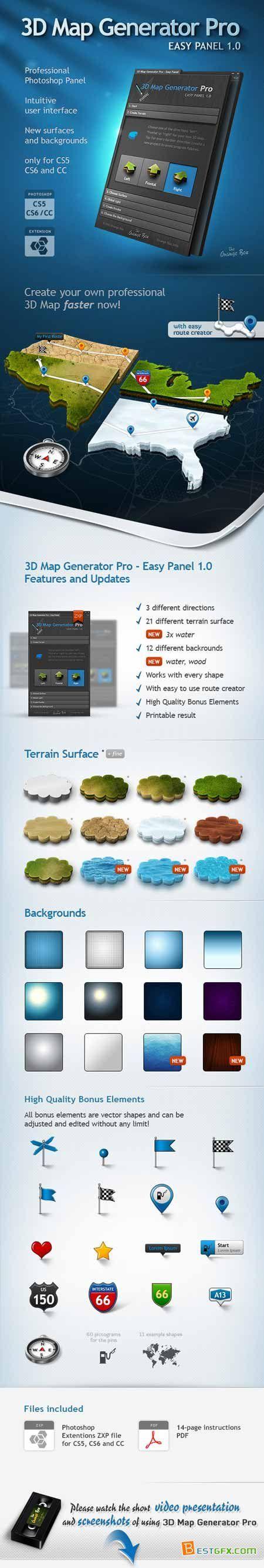 3D Map Generator Pro - Easy Panel 3540744