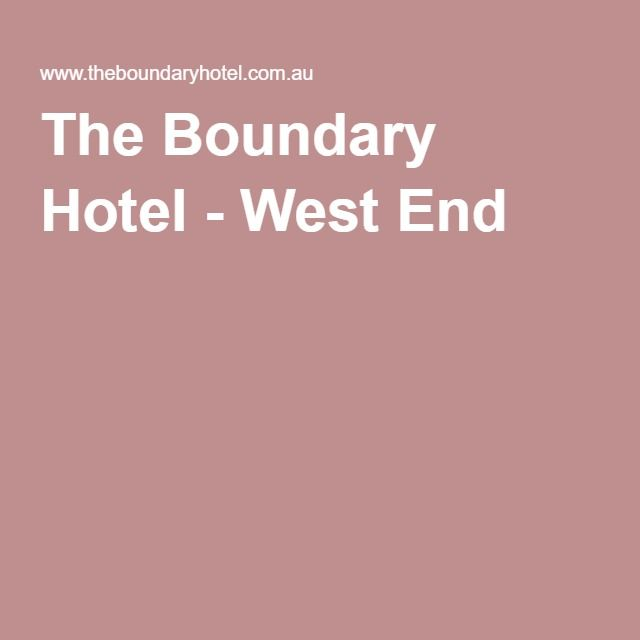 The Boundary Hotel - West End