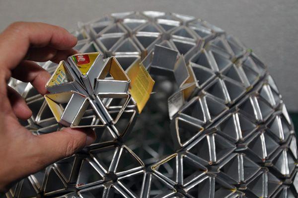 tetrabox light diy: Tetrabox Lampshade, Ideas, Craft, Lampshades, Diy, Light, Tetra Pak, Design