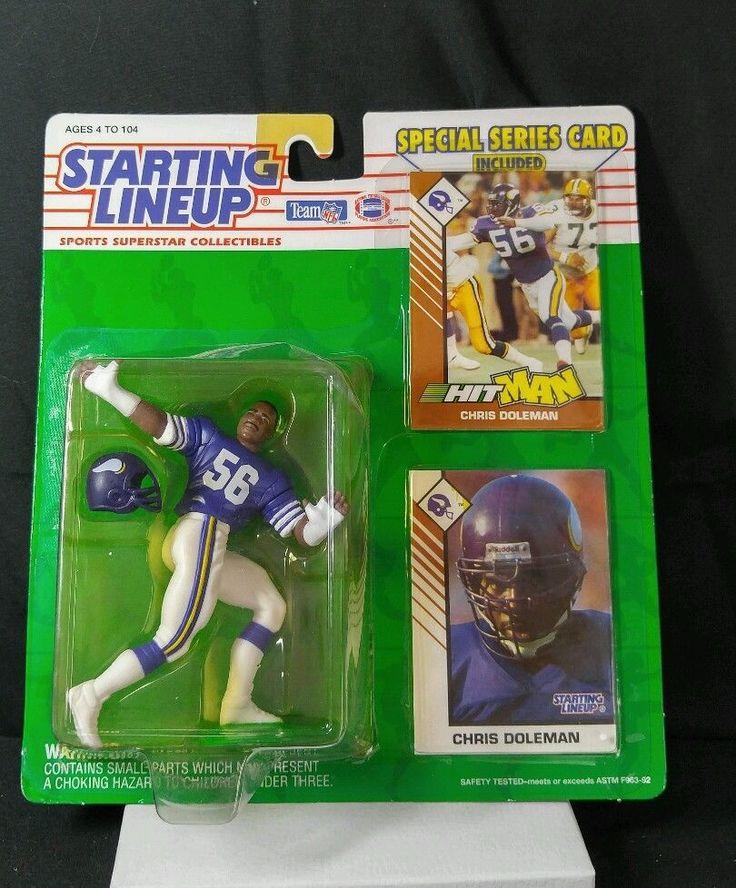 Chris Doleman MINNESOTA VIKINGS 1993 Starting Lineup NFL football figure & Cards #Startinglineup