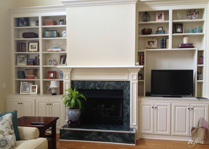 built ins with fireplace surround   cottage and vine: Client Inspiration: Fireplace Surrounds & Built-ins
