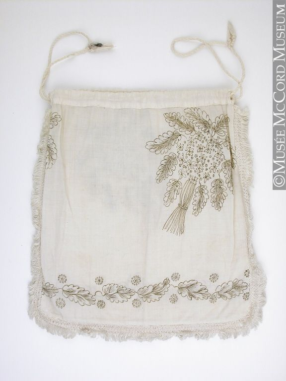Bag, reticule 1810-1825, 19th century 20 x 19.8 cm Gift of Miss M. Gould M15298 © McCord Museum