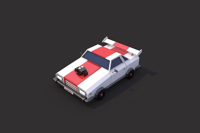 Low Poly Racing Car by CreativeeArt on @creativemarket