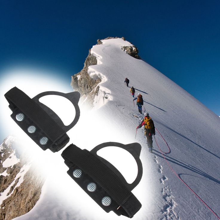 1 Pair Ice Gripper Walking Cleat Over Shoe Anti Slip Ice Snow Walking Shoe Spike Grip Camping Climb Ice Crampon