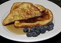 French toast! Add a wee bit of vanilla for extra flavour.