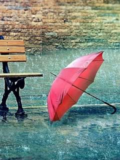 Raining buckets...