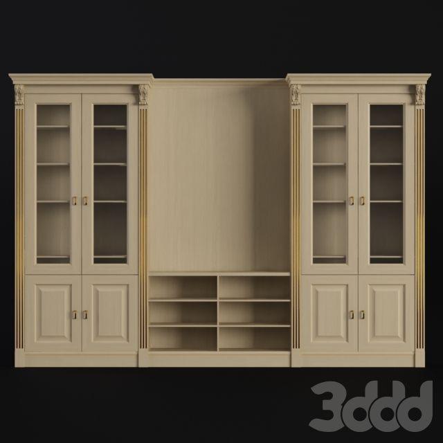 3d модели: Шкафы - Шкаф. Библиотека. Самеба