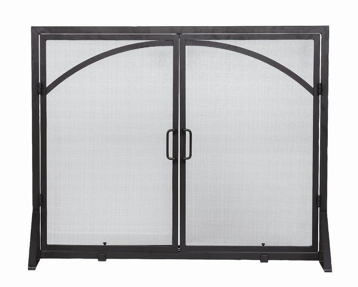 2 Panel Wrought Iron Fireplace Screen