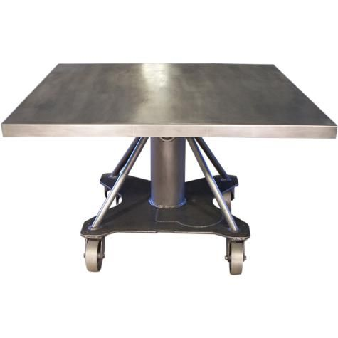 Industrial Steel Table from Get back  Inc  Could possibly make a very cool  dining. 126 best Steel Furniture images on Pinterest   Iron  Steel