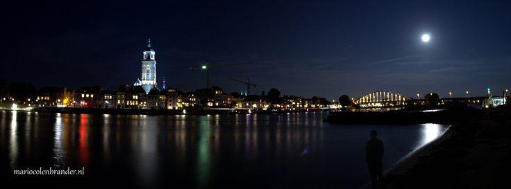 Full moon skyline Deventer Netherlands . Picture taken by Mario Colenbrander