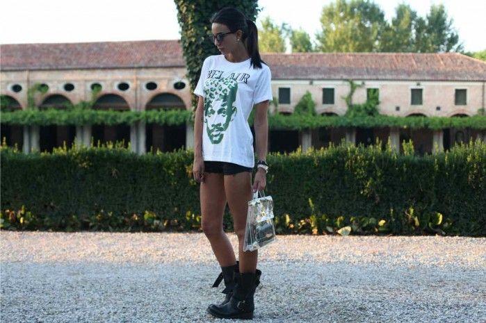 Chiara Biasi wears Bazaretto for Tee Trend #bazaretto #chiarabiasi #teetrend #freshprince #willsmith #principedibelair #graphictees #blogger