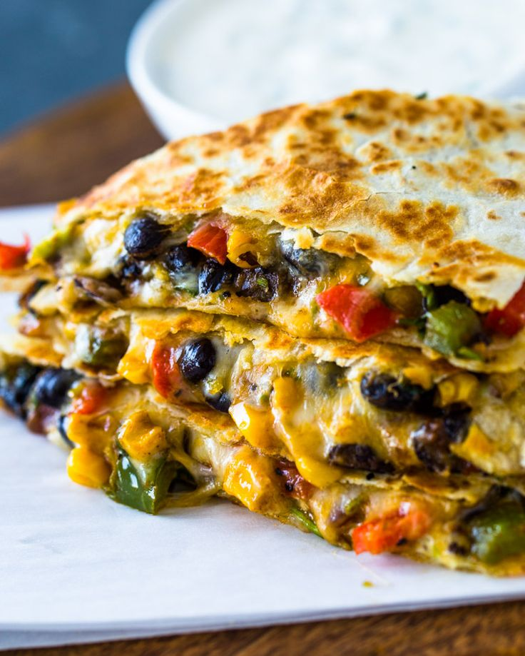 Vegitarian Dinner Ideas: Southwest Veggie Quesadillas