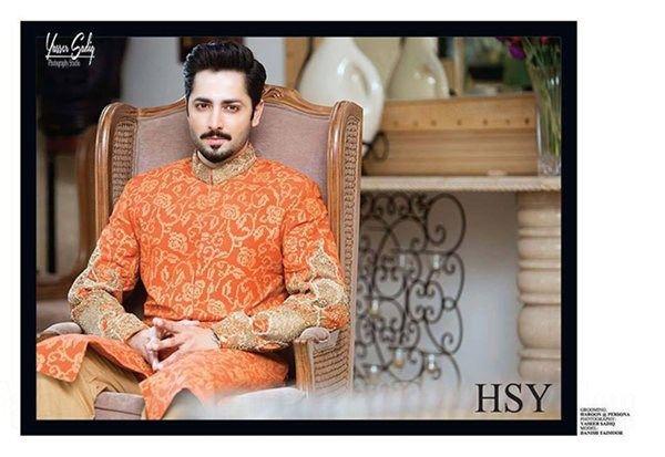 Latest HSY Dulha Sherwani Collection 2016