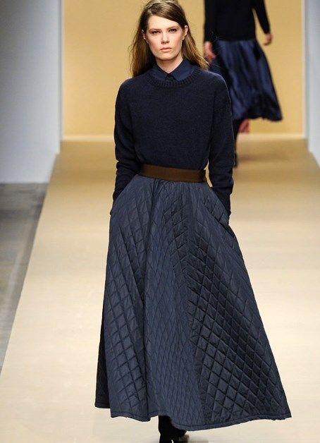 стеганая длинная юбка - Поиск в Google