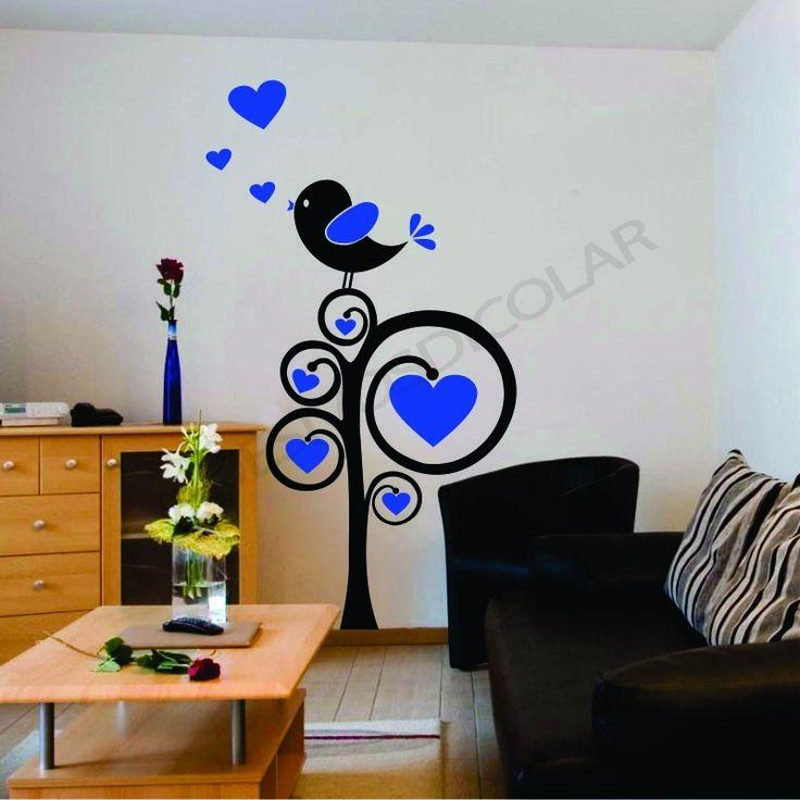 Adesivos de parede pássaros românticos - Adesivos Dicolar