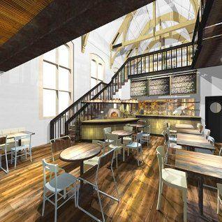 59 best desain interior canteen school images on for Interior and exterior design schools
