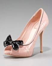Dior Bow Peep-Toe Cannage Pump<--- I would kill for these