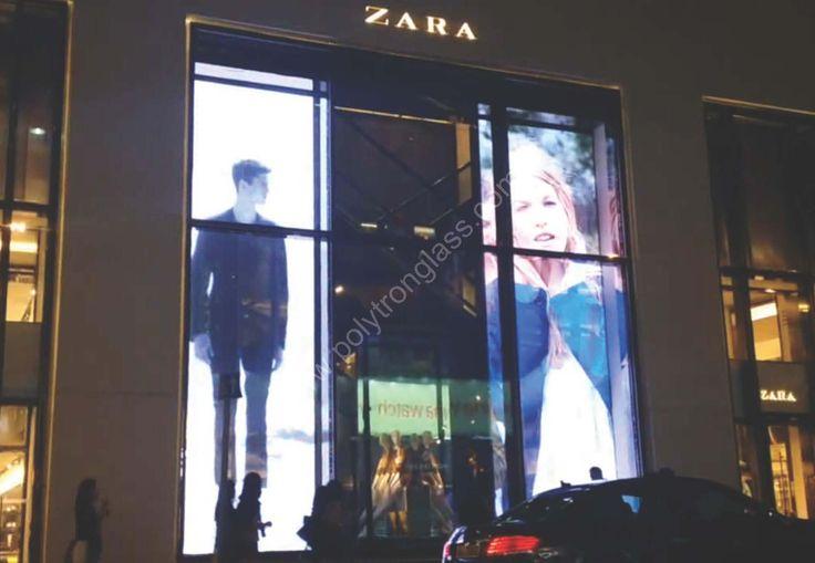 LED screen glass