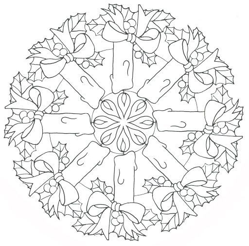 7 best images about mandala natale on pinterest kerst for Winter solstice coloring pages
