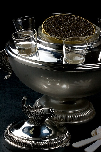 The Finest Caviar Is Served On Ice In The Private Balcony, Before, During and After The Opera, Which Is By Invitation Only and Reserved For VIP's -ShazB