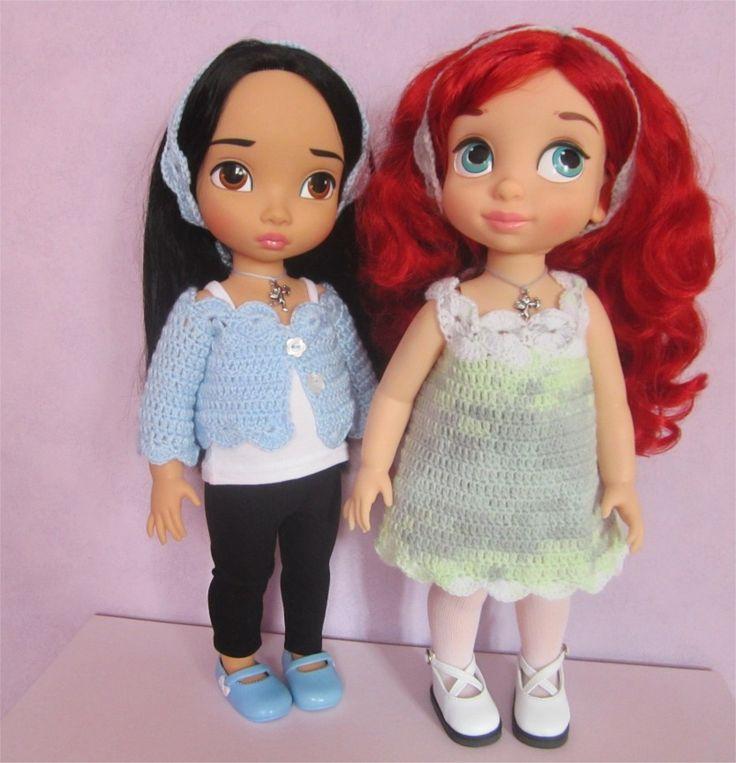 43- FICHE PATRON Adriana pour poupée Animator : Jeux, jouets par atelier-crochet
