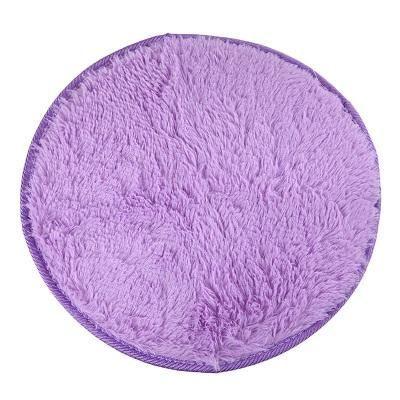 Approx 40cm*2cm Home Decor Bedroom Mat Door Floor Carpet Puzzle Mat Fluffy  Round Foam