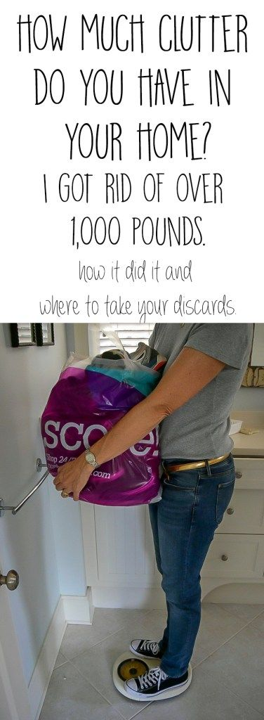 It's time to unclutter your home. The tips I used to remove over 1,000 pounds of clutter from my home and ideas on where to take your discards.