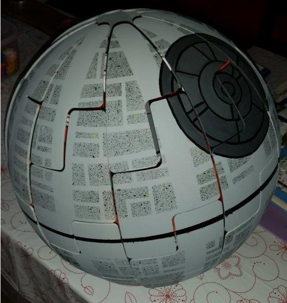 I wanted to have a go myself for my son's room. I took inspiration from around the web and took the bits I liked to make my Death Star Hack.