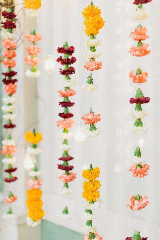 marigold + carnation garland