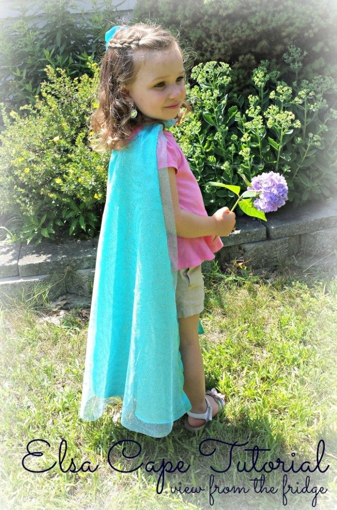 Queen Elsa Cape Tutorial  |  View From The Fridge