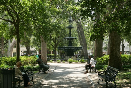 Bienville Square, Mobile, AL   I spent many a Mardi Gras Day in this park with family.