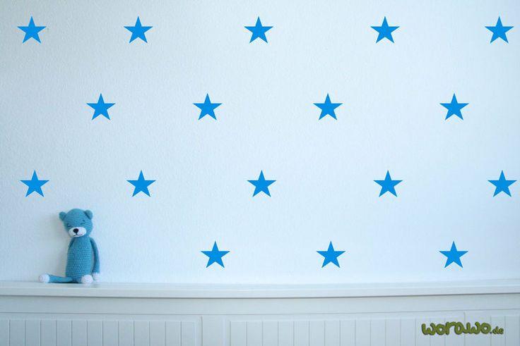 Wandtattoo - Wandtattoo Sterne (25 Stk. je ca.8 cm hoch) - ein Designerstück von jumeaux-design bei DaWanda