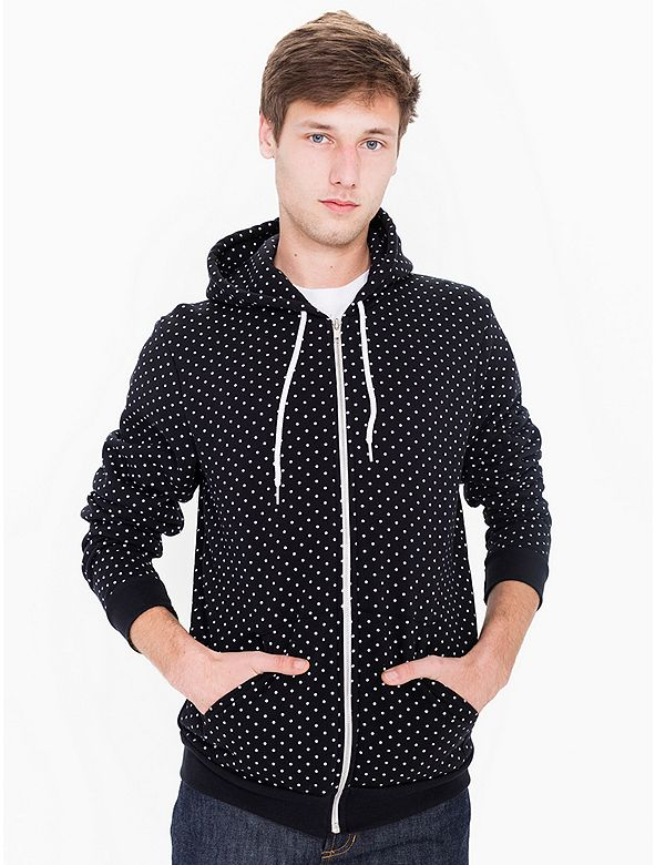Polka Dot Flex Fleece Zip Hoodie | American Apparel - $31, orig. $44 // I don't wear hoodies, but for some reason I still want this because of the polka dots.