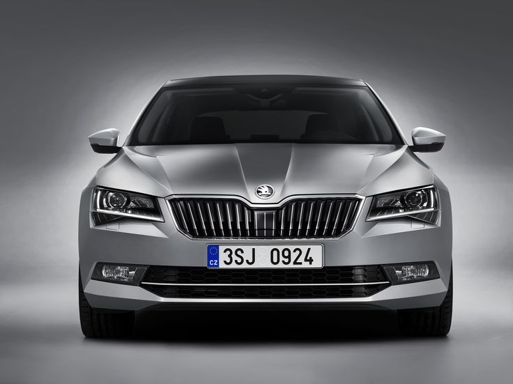 Where the vehicle is fitted with a front radar system, the radar unit is discreetly integrated within the radiator grille #newskodasuperb #skoda #superb