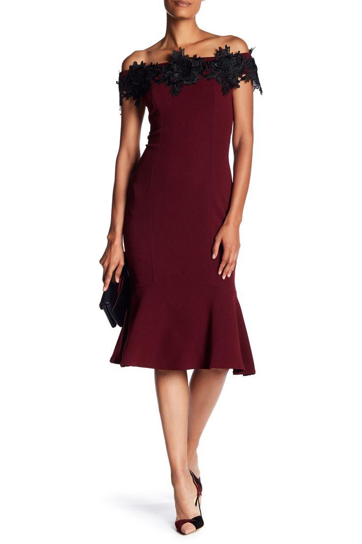 Off-the-Shoulder Applique Dress by Marina on @nordstrom_rack